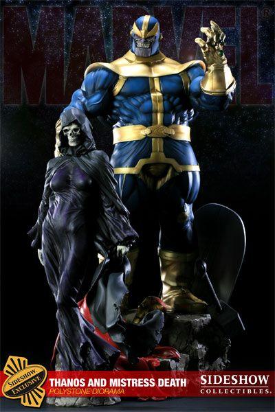 Thanos and Mistress Death Polystone Diorama