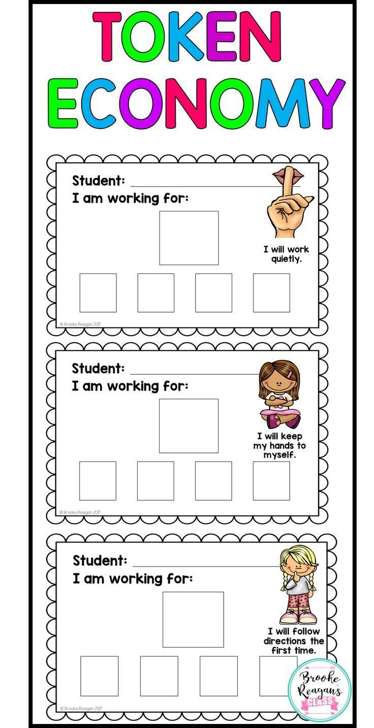 Token Economy {For Behavior Intervention}: Positive Reinforcement Visuals | Token economy, Behavior system, Classroom behavior management