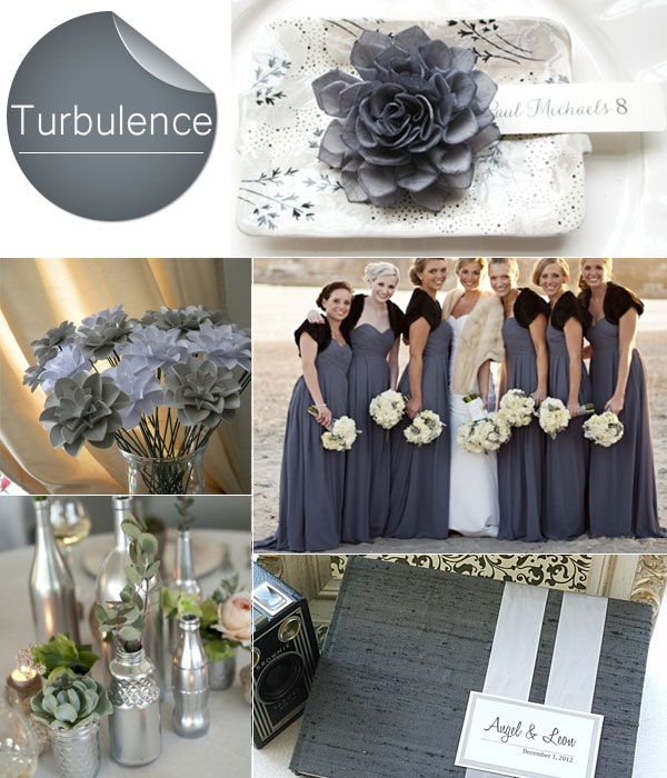68 best Grey Weddings images on Pinterest Bridal parties