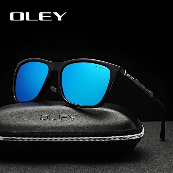 8adaa0c1c31 OLEY Brand Men s Polarized Sunglasses Ultralight Aluminum Material HD Lens  Driving Fishing Anti-Glare Night