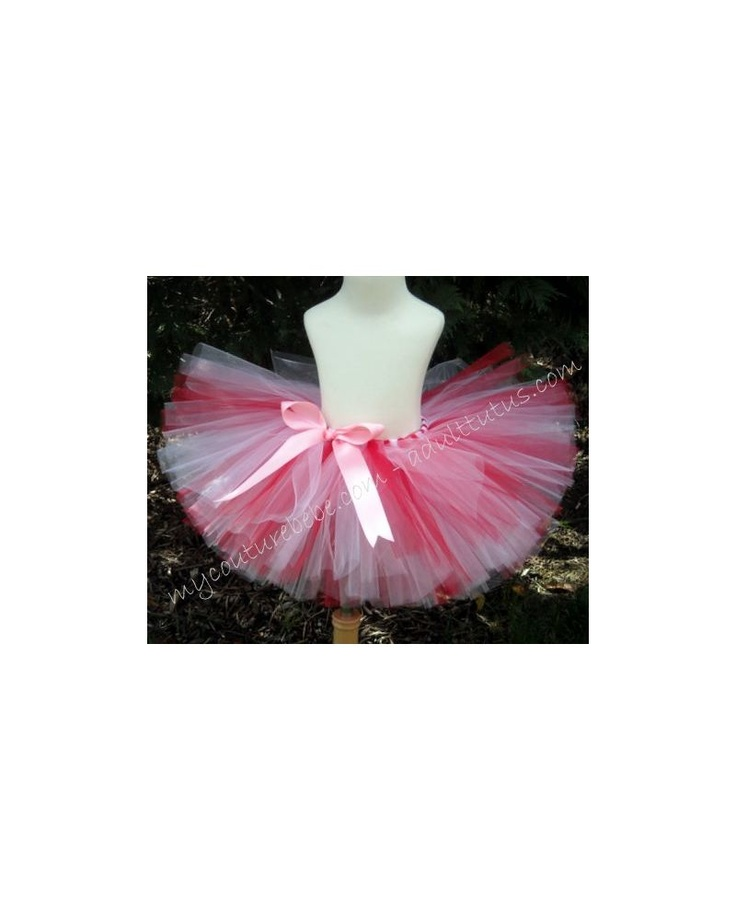 Candy Cane Adult Tutu Pink BowValentines Day Christmas Teen
