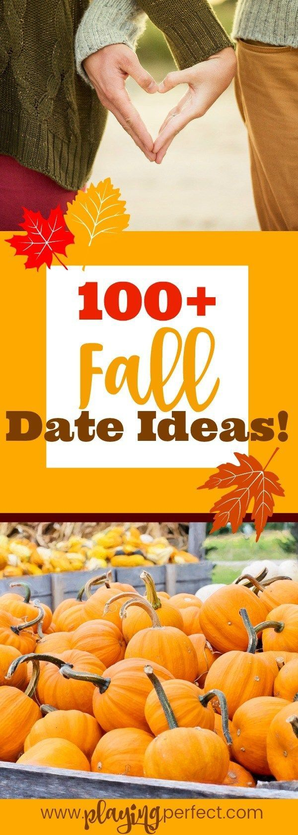 Fall is the ultimate time to fall more in love! If you are newly dating or have been in love for decades and are looking for ways to spice up your marriage, these fall date ideas are for you! If you're hoping to have the best fall dates ever this fall, get ready! Here are over 100 of the best fall date ideas ever! Grab your loved one, snuggle up, and make this fall dating season awesome! Fall dates to remember, here we come! FREE printable! | playingperfect.com