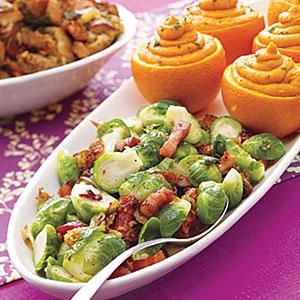 Brussels Sprouts with Caramelized Onions Recipe | MyRecipes.com