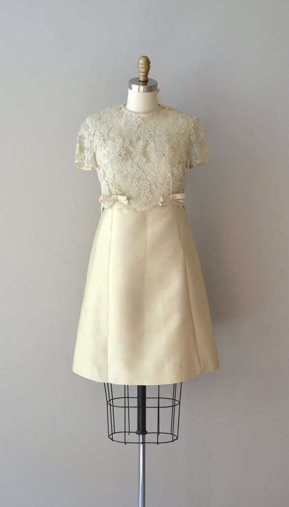 1960s silk and lace dress