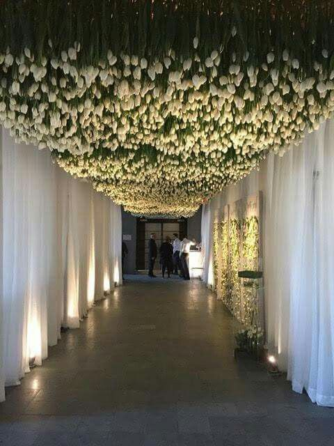 Beautiful flower ceiling! Can't imagine how long that took to install