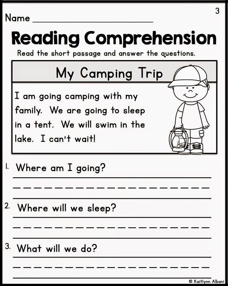 Image result for kindergarten reading fluency and comprehension passages