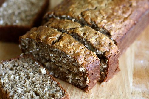 banana oatmeal bread - this is by far the best banana bread i've tasted! used no-calorie sweetener, 1 tsp cinnamon plus added 1/4 tsp ground cardamon, 1/4 tsp ground ginger and 1 tsp vanilla extract.
