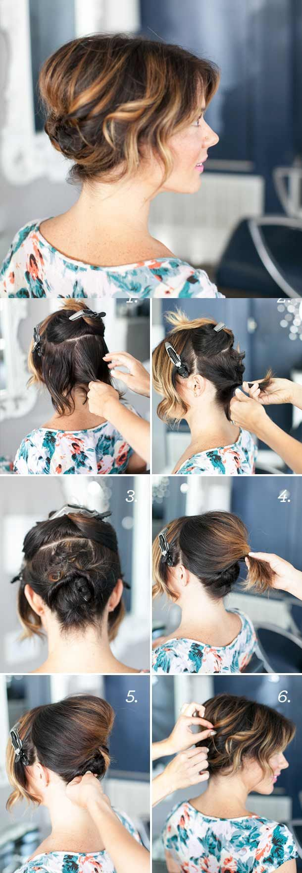 Great step by step tutorial for short hair
