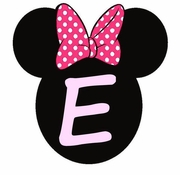 Minnie Mouse Doğum Günü Banner Harfleri | Doğum Günü | Pinterest