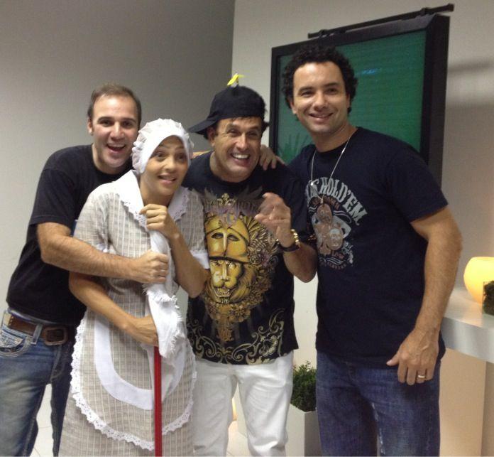Eu, Diogo Portugal, Sergio Mallandro e Marlei Cevada no Risorama