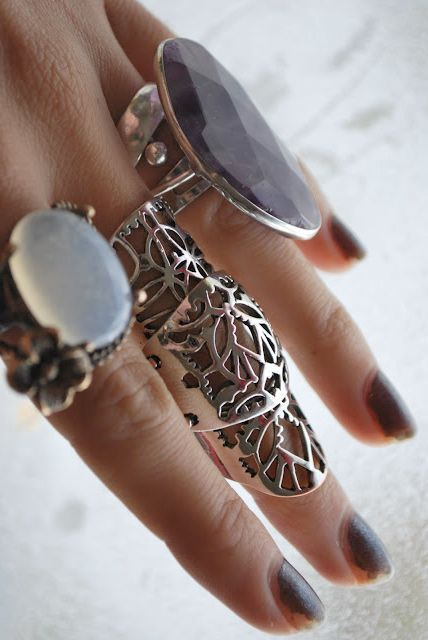 Silver bohemian Ring jewelry #fashion fashion jewelry 2014