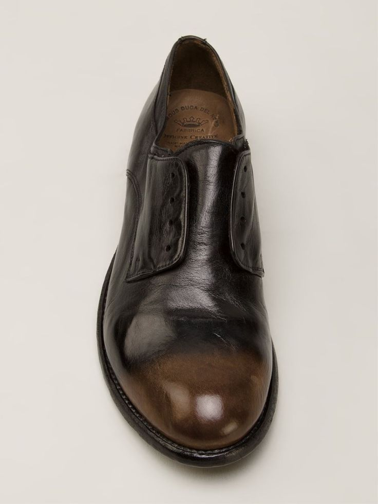 Officine Creative Ombré Derby Distressed Shoes - Madison - Farfetch.com