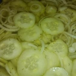 Grandma's Cucumber-Onion Salad with Dill Recipe - by RainbowJewels on Allrecipes.com: Side Dishes, Grandma Cucumber Onions, Dill Allrecipes Com, Food Ideas, Cucumberonion Salad, Cooking, Dill Recipe, Cucumber Onions Salad, Delicious