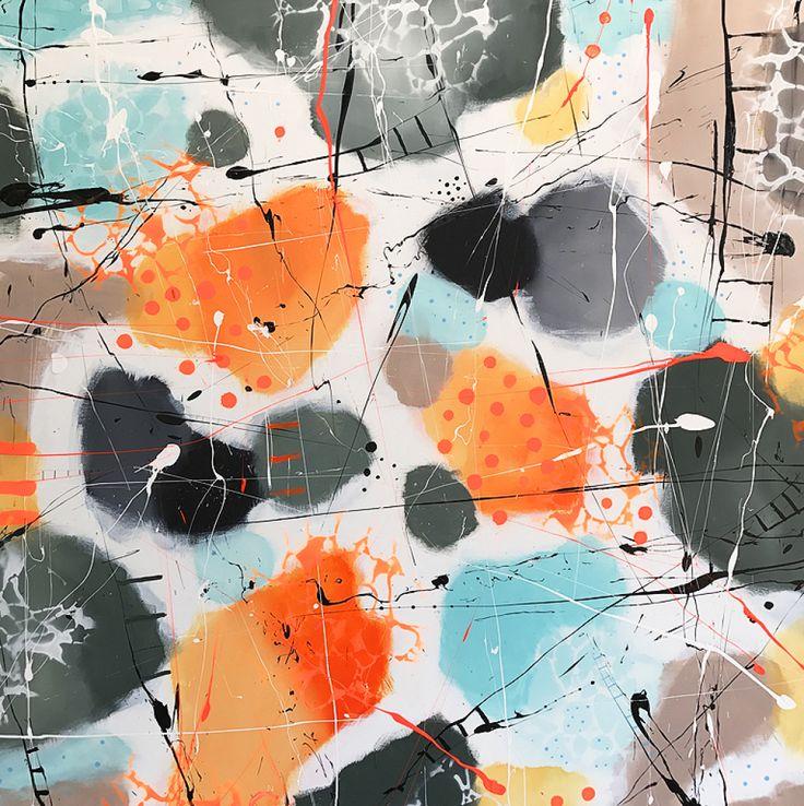 mellem malerier, malerier abstrakte malerier, kunst bolig boligindretning, køb salg