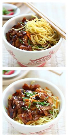 Chicken noodles - so easy to make and so delicious. Perfect meal to make for the entire family in a jiffy | rasamalaysia.com