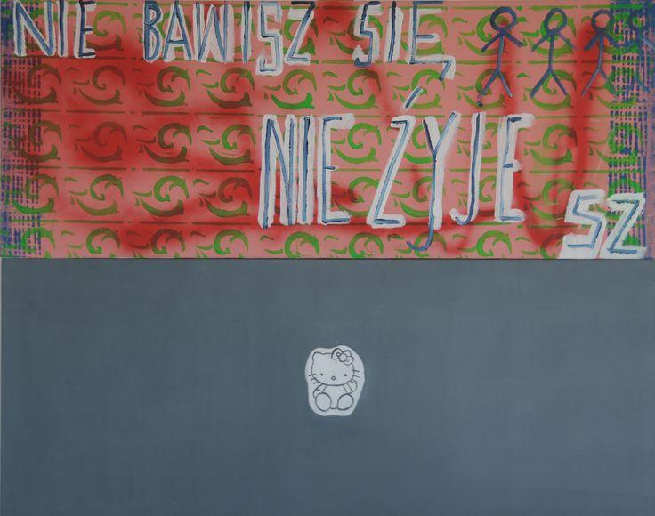 Maria Piątek, Nie bawisz się, nie żyjesz, akryl na płótnie, 80x100cm, 2012.
