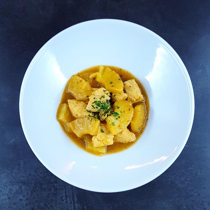 Recette minute de poulet à l'ananas et aux épices cajun, une recette rapide et donc parfaite quand on rentre du boulot avec une envie de petit plat .