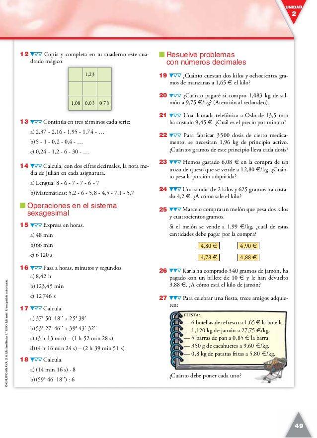 Solucionario Libro Del Profesor Matematicas 2º Eso Anaya