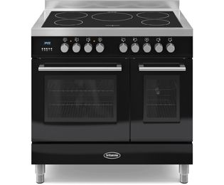 Britannia Electric Range Cookers with Induction Hobs in Black - standard width of 90 cm ao.com