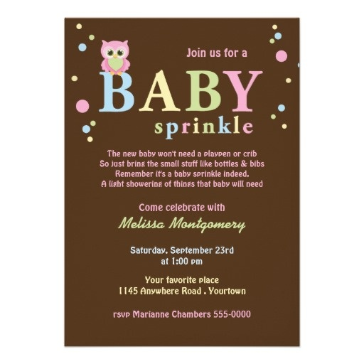 Pink Owl Baby Sprinkle Invitation. Baby number 2 shower. Cute. Only if it's a girl though.