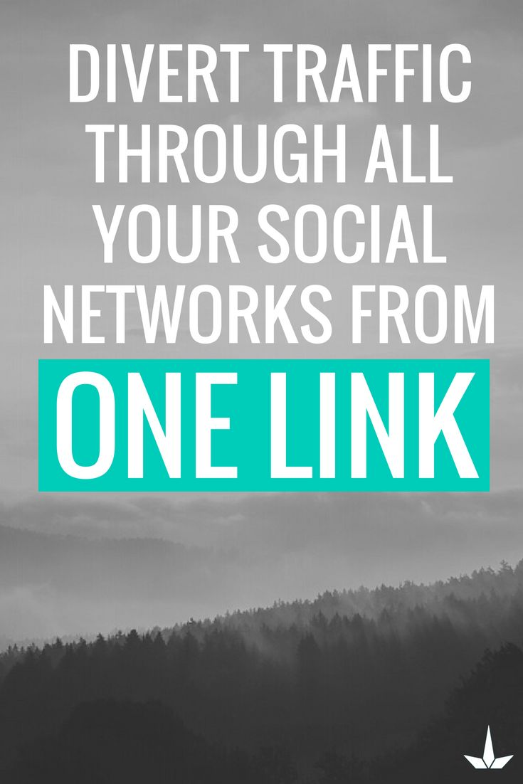 Divert traffic through all your social networks from one link. Connect today.