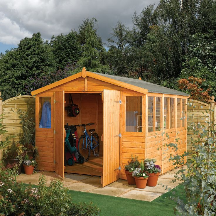 1000 images about garden ideas on pinterest fruit trees for Garden shed 9x7