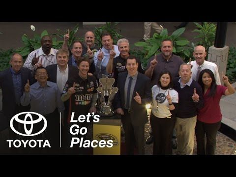 Toyota Racing driver Kyle Busch stopped by Toyota USA Headquarters a week after winning the 2015 NASCAR Sprint Cup Series championship. https://www.youtube.com/watch?v=8WfGRnxdBkA