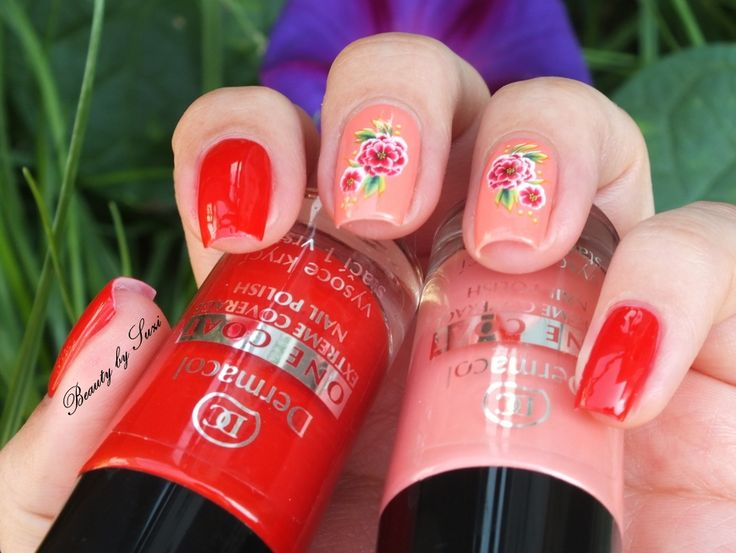 Dermacol Rose nail art