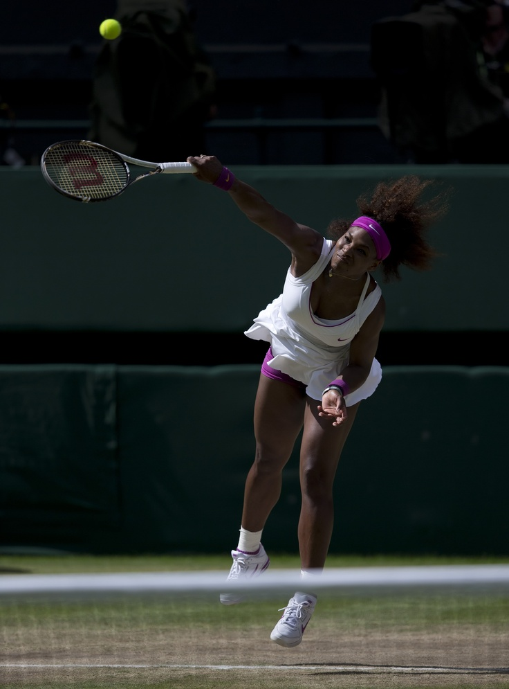 Serena Williams in semifinal action during the 2012 Wimbledon Championships.  Serena will play for the Washington Kastles during the 37th season of World TeamTennis.