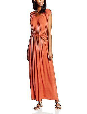 UK 8, Orange - Orange (Burnt Brick), Vero Moda Women's Vmfancy S/L Ancle Dr4 Dre