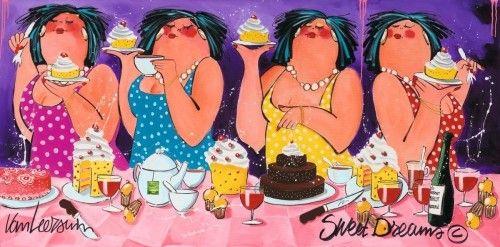 Karin's Taarten: Gezellige dikke dames-taart