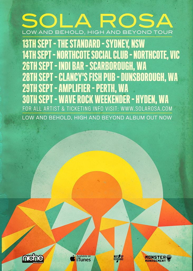 https://flic.kr/p/cJa4fU | Low & Behold Australian Tour Poster