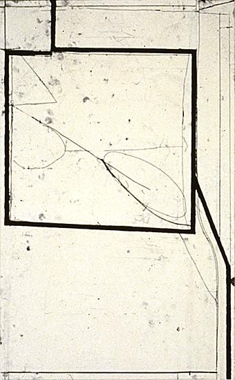 Richard Diebenkorn Two-Way, 1982 Soft ground etching with drypoint Image Size: 24 x 15  Paper Size: 40 x 26  Edition Size: 35