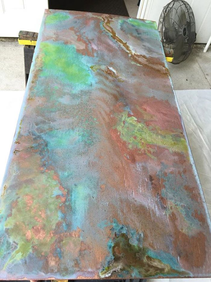 Metal Effects Patinas Oxidizing Reactive Metallic Paints | DIY Wall Art How-to by Jennifer Gibson on the Modern Masters Blog