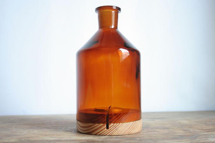 Windlicht aus einer Apothekerflasche. #upcycling #DIY
