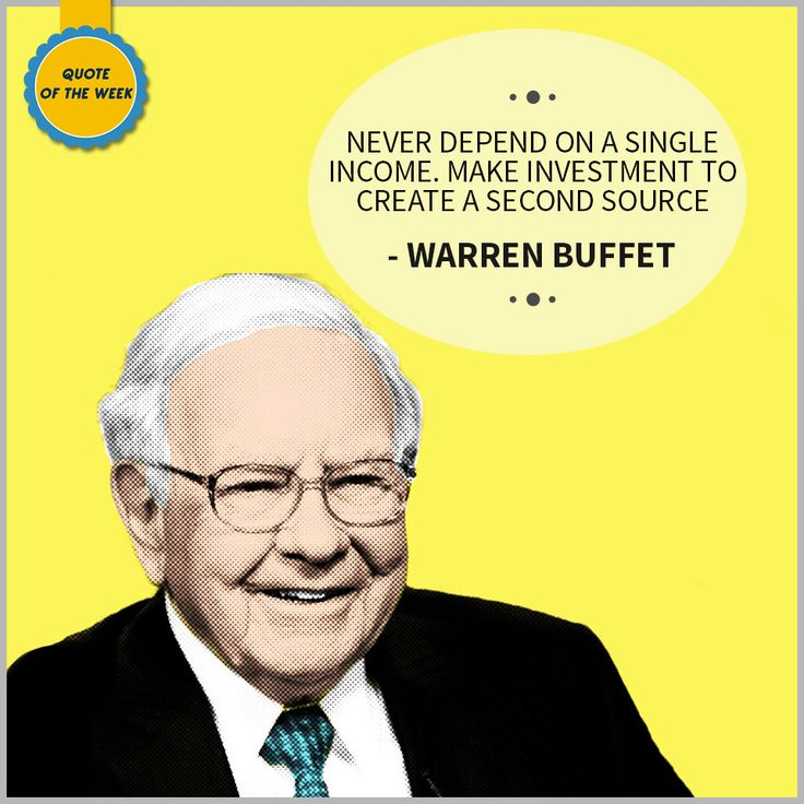 #ChoiceBroking #QuoteOfTheWeek - Never depend on a single income. Make investment to create a second source – #WarrenBuffet