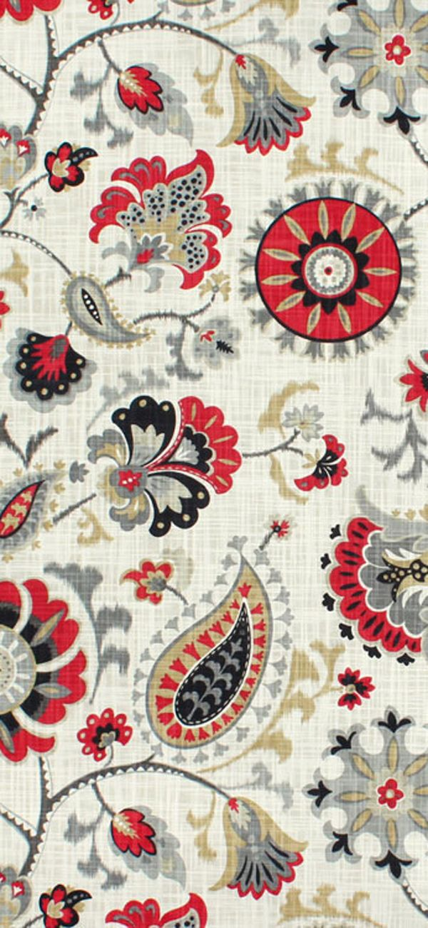 Waverly Siren Song Graphite Fabric   Home Decoz