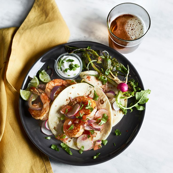 Mix up your menu with easy recipes like Shrimp Tacos with Padrón Peppers.