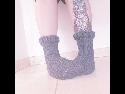 Tutoriel: Chaussettes au tricotin - YouTube