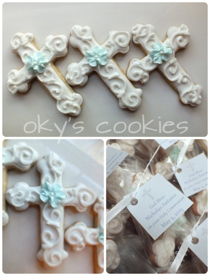 chirstening and communion cookies