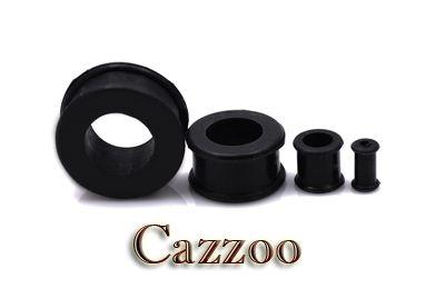 PL33 Sort Silikone Flexible Plug 4mm - 12mm stretch øreringe piercing