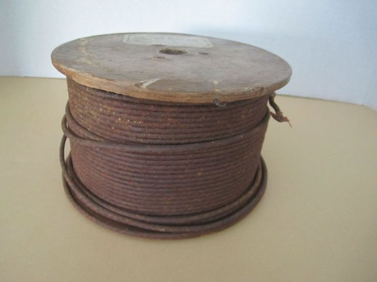 Single Strand Copper Wire Insulated Cloth Phillips Damp Proof Office Wire Vintag #PhilipsInsulatedWireCo