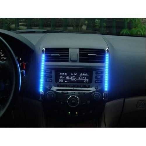 Auto Innenraum LED Beleuchtung mit Musik Sensor BLAU   #Auto #Beleuchtung #Blau #Innenraum #LED #mit #Musik #Sensor