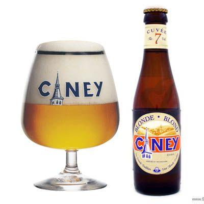 Ciney Blond: Bier van hoge gisting. Een zacht en zuiver bier, goudblond, fruitig van smaak en met een evenwichtige, aangename bitterheid.