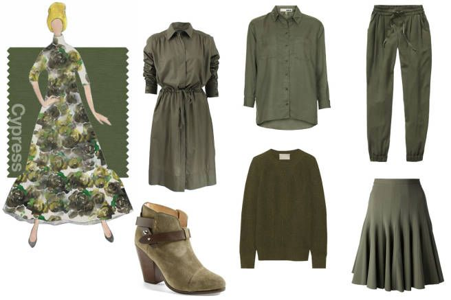 Shop Pantone's Top 10 Colors for Fall Before The Leaves Turn - Elle - the booties and pants yep.
