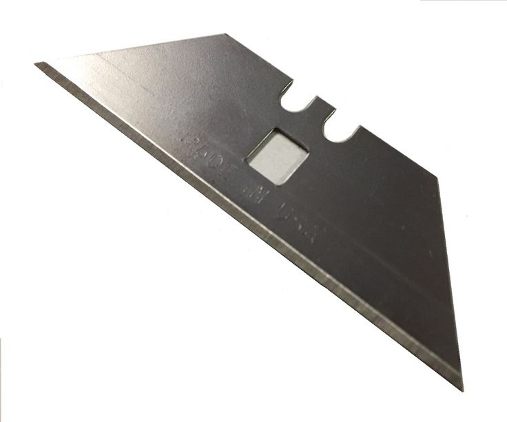"U101 Blade replacement utility blade.  Fits all Modern Specialties knives and many others. .025"" thick x 2 1/2"" long x 3/4"" wide"