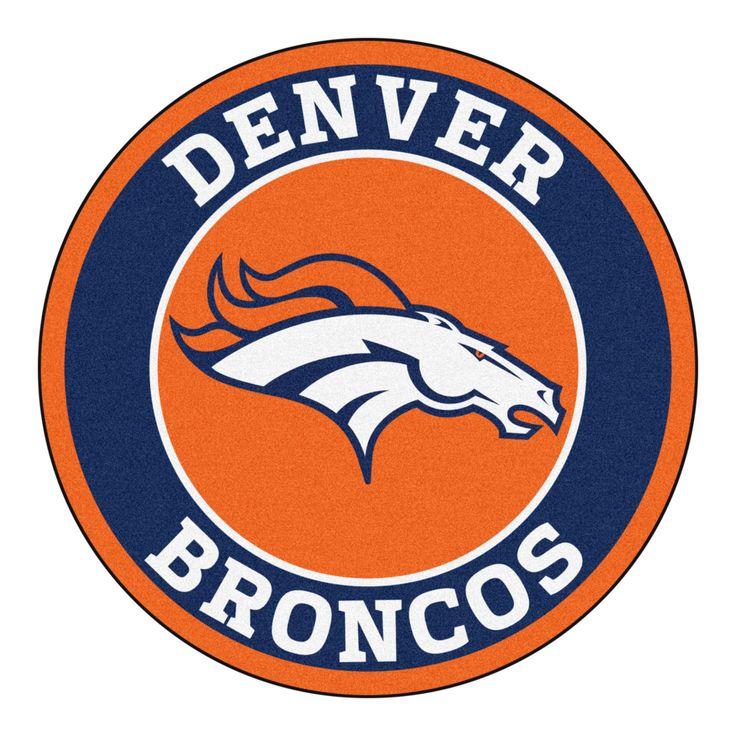 Football Art Round Clip Denver Broncos