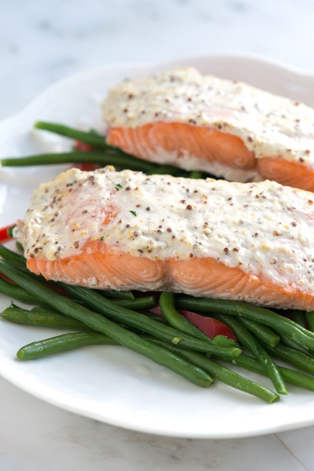 This simple baked salmon recipe is perfect for a weekday, but could also fill in for a special occasion.  From inspiredtaste.net | @inspiredtaste