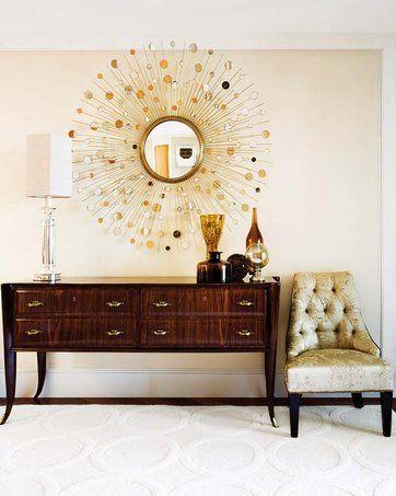 El espejo con forma de sol casa muebles vintage for Espejos decorativos con forma de sol