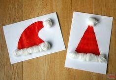 """Une carte de Noël """"bonnet de Père Noël"""""""